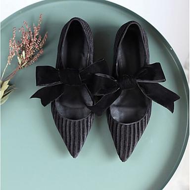 Plat amp; Jane Mary Daim Soirée Noir Ballerines Chaussures Talon 06836816 Printemps Femme Evénement Confort gUqnp
