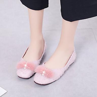 Zapatos Beige Negro Rosa Verano Tacón Plano Sintética Piel PU Mujer 06837085 Confort Bailarinas ZvpdZq