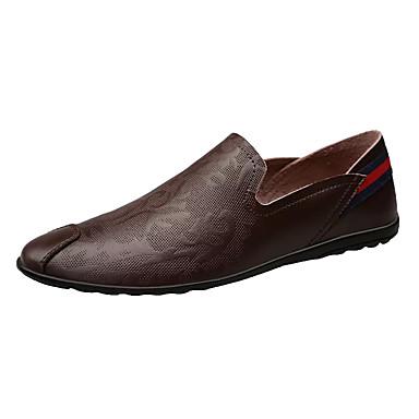 Men's Cowhide Spring Comfort Loafers & / Slip-Ons Black / Blue / & Dark Brown 173179