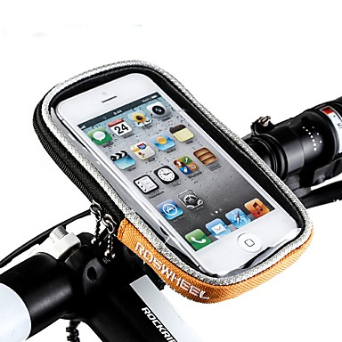 Cell Phone Bag / Bike Handlebar Bag 5.5 inch Touch Screen Cycling for iPhone 8 Plus / 7 Plus / 6S Plus / 6 Plus / iPhone X / iPhone XR Orange / 600D Polyester