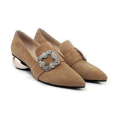 Talons Chaussures Printemps hétérotypique 06832927 Femme à Daim Noir Confort Talon Automne Chaussures Amande ZqnwR0XwaA