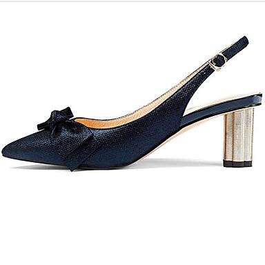06833055 à Peau Basique Talons Femme de mouton Chaussures Confort Bout de Bleu Chaussures pointu Marche Bottier Eté Escarpin minuit Talon f4Bqp4