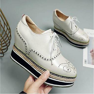 06796440 Blanc Noir Cuir Kaki Printemps été Chaussures Femme Confort Creepers Basket Nappa ZBxyfwP
