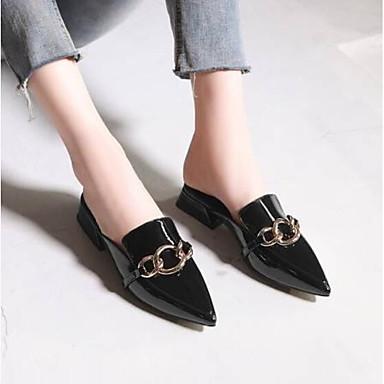 Noir Talon pointu Vin Femme Confort Mules Nappa Sabot Bas amp; Bout 06785761 Chaussures Cuir Eté PSx8qwPZ7
