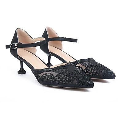 Aiguille Chaussures Confort Rose Basique Noir Talon Chaussures Or Cuir Printemps Escarpin Talons à 06810758 Femme 4dBvwB