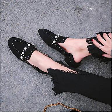 Noir D6148 et Confort Printemps Talon Kaki Mocassins 06796619 Femme Chaussons été Chaussures Plat Daim aBUnPp8
