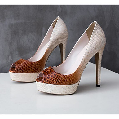 Café Talons à Chaussures Printemps Eté Escarpin Basique Cuir Aiguille Confort 06790866 Talon Femme Chaussures gqzdx78q