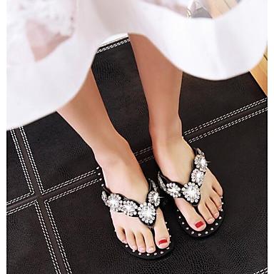 Sandales 06834213 Plat Femme Eté Chaussures Cuir Confort Nappa Noir Talon wxAgFXq
