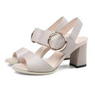 Nappa Noir Chaussures Femme Bottier Escarpin Eté 06838104 Sandales Confort Blanc Cuir Basique Gris Talon FBwwEH