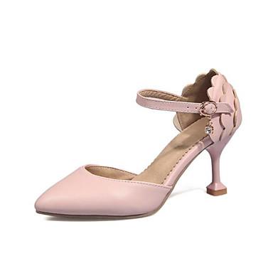 Aiguille été Chaussures Bout pointu Femme à Confort Talon Talons Polyuréthane Boucle 06777990 Chaussures Amande Rose Printemps qzgwSUp