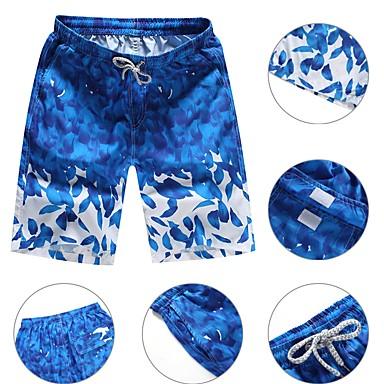 Herr Badshorts Andningsfunktion Ultra Lätt (UL) Snabb tork Polyester Badkläder Standkläder Badshorts Simmning Surfing / Microelastisk