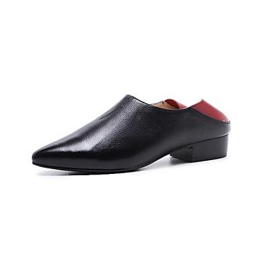Nappa Noir Heel Chaussures Confort Femme Block et Blanc Mocassins 06843229 D6148 Hiver Chaussons Cuir 7AFqcqwE