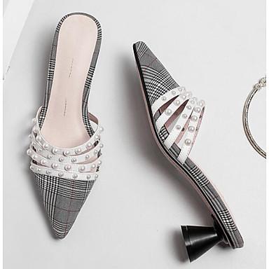 06850308 Cône Gris clair synthétique foncé amp; Printemps Chaussures Confort Mules Femme Marron Sabot Talon Gris Matière zqa1Znx4w