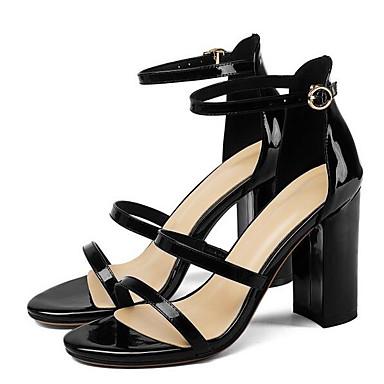 Blanc Femme Chaussures Noir Nappa Sandales Eté Bottier Talon 06855673 Cuir Confort rrxHF8n