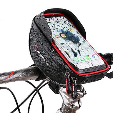 abordables Sacoches de Vélo-Wheel up Sac de téléphone portable Sacoche de Guidon de Vélo 6 pouce Ecran tactile Réfléchissant Cyclisme pour Cyclisme iPhone X iPhone XR Rouge Noir Vélo tout terrain / VTT Vélo de Route / iPhone XS