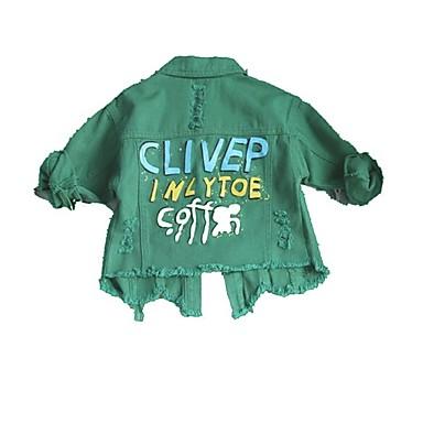1a2fe9f5376 Παιδιά / Νήπιο Κοριτσίστικα Βασικό Στάμπα Μακρυμάνικο Πολυεστέρας Κοστούμι  & Σακάκι Πράσινο του τριφυλλιού