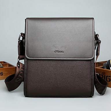 f428c35942 Men s Bags Leather Shoulder Bag Zipper Black   Brown