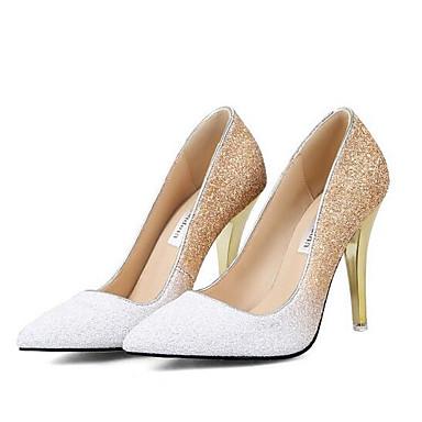 Printemps Chaussures Confort Femme Toile Talons Chaussures Noir 06857355 Talon Aiguille à Rose Blanc wx11ZE6