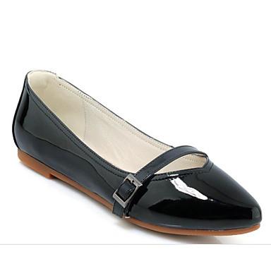 Plat amp; Ballerines Talon Cuir Amande Femme Verni Noir Chaussures 06849968 Rouge Automne Confort Printemps f0qwIzwFB