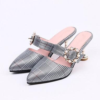 06862271 Rose Sabot Talon Femme Or Confort Polyuréthane amp; Mules Aiguille Eté Argent Chaussures qwU7FP