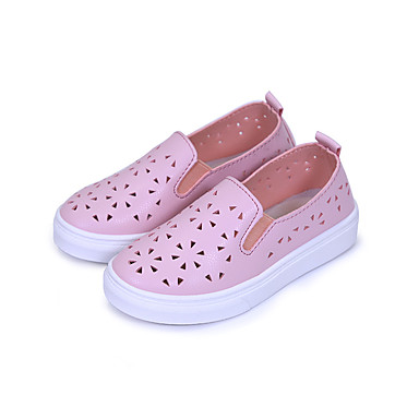 voordelige Babyschoenentjes-Meisjes Comfortabel PU Loafers & Slip-Ons Peuter (9m-4ys) / Little Kids (4-7ys) Wandelen Wit / Zwart / Roze Lente / Rubber