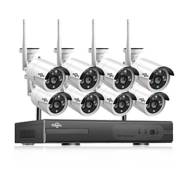 povoljno Pametna kuća-1080p bežični CCTV sustav hdd 2mp 4ch snažan nvr ip ir-cut CCTV kamera ip sigurnosni sustav nadzor setove hiseeu