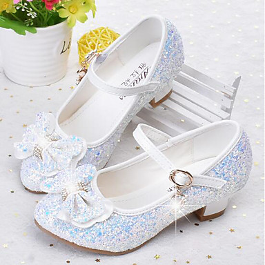 Girls Shoes Faux Leather Spring Fall Flower Girl Shoes Heels