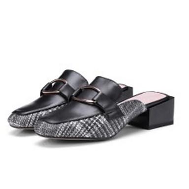 Cuir Noir Mules Talon 06864567 Bottier Chaussures Confort Sabot Beige Femme Nappa amp; Printemps 5wFqxp