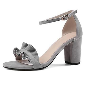 Femme Talon Noir Chaussures Eté Bottier Daim Gris Confort 06856067 Sandales Rouge rrPBq