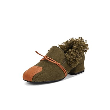 Vert Véronèse Heel Ballerines Confort hiver Automne 06848312 Noir Femme Marron Chaussures Block Daim x0UTwXqPqv
