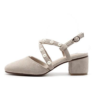 été Femme Beige Printemps Chaussures Daim Noir Confort Sandales 06850225 Talon Bottier xrr4tq