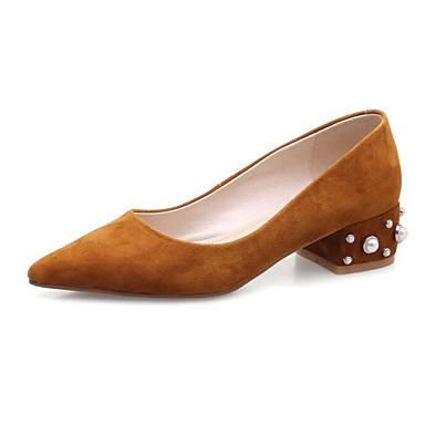 Femme Noir Ballerines Chaussures Talon Daim Rose Confort Bas Marron 06850166 Printemps UUnxrfq