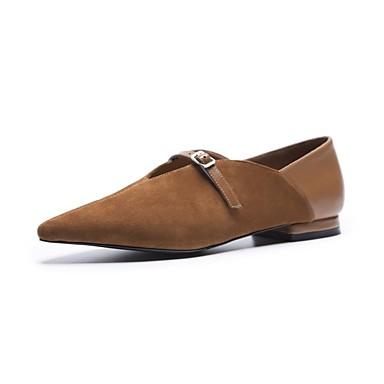 Chaussures Talon Noir Daim Ballerines Automne Marron 06862043 Plat Confort Femme ZwqXHOdZ