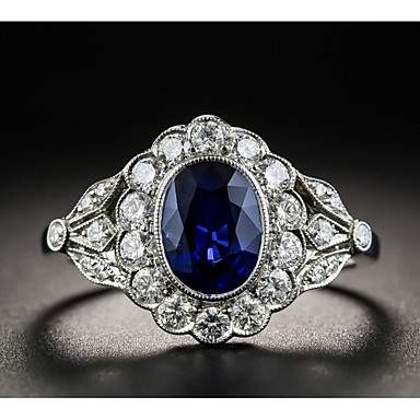 Gemstone Special Section Customer Appreciation Day Cambodian Blue Zircon Platinum Over Sterling Silver Tr