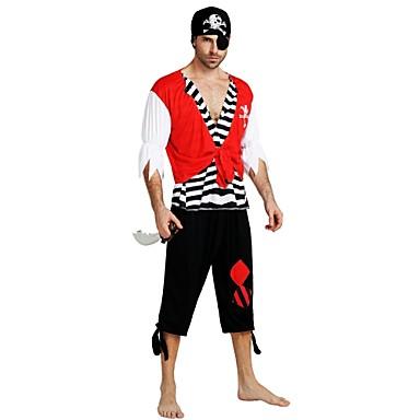 Fashion Style Pirati Dei Caraibi Costumi Da Pirata Costume Adulto Per Uomo Halloween Halloween Carnevale Mascherata Feste - Vacanze Poliestere Nero Costumi Carnevale Tinta Unita A Strisce Halloween #06841167 Perfetto Nella Lavorazione