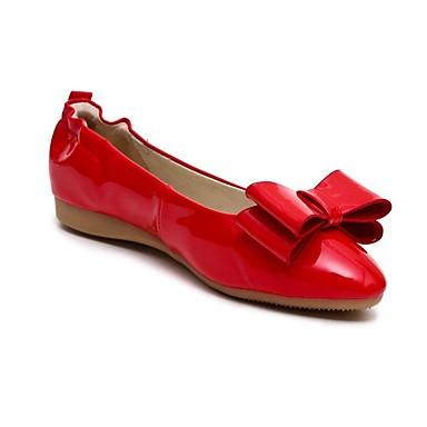 Rose Plat Bleu Verni Femme été Cuir Chaussures Ballerines Talon Printemps Rouge 06863609 Confort royal x8wFv8Z