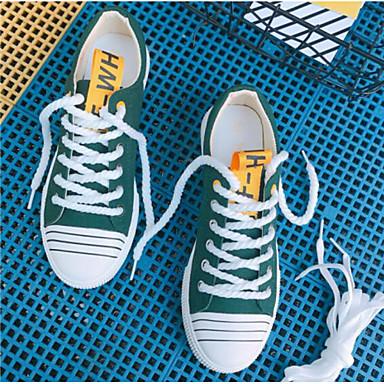 amp; Confort Toile Noir Automne Chaussures Basket Blanc Femme Bleu 06864596 Talon Printemps Rubans Plat Rxtw4nqf