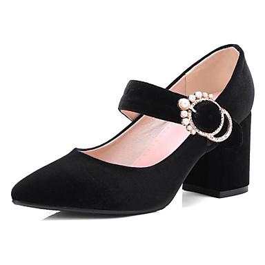 Printemps Bottier Escarpin Automne Noir amp; 06848769 Chaussures Talon à Chaussures Vert Talons Bourgogne Basique Confort Daim Femme 7YfIEWqwO