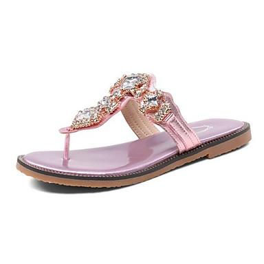 Plat Confort Sandales Faux Femme Chaussures Noir Rose Talon Eté Cuir 06858470 Argent X0SITq