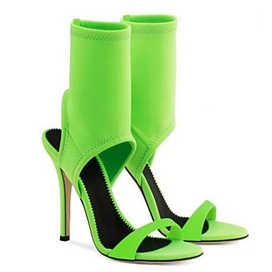 Women's Black Shoes Elastic Fabric Summer Comfort Sandals Flat Heel Black Women's / Red / Green 2bf0ad