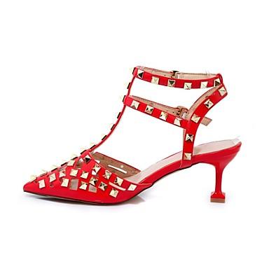 Cuir Blanc Femme Basique Talons Chaussures Nappa Chaussures Escarpin Confort Eté 06862004 Rouge à Aiguille Talon UZU15w7Wq