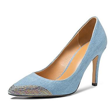 Women's Shoes Suede / Denim Spring Black Comfort Heels Stiletto Heel Black Spring / Blue 0ce6df