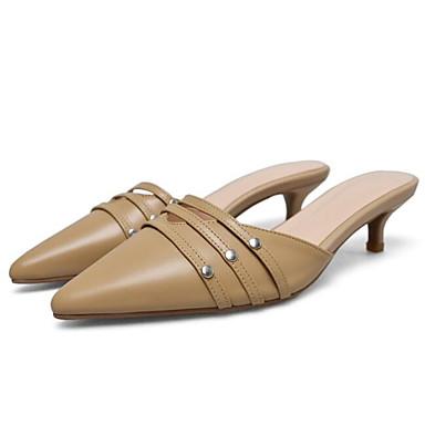 Femme Eté Confort Noir 06841605 amp; Cuir Kaki Blanc Sabot Chaussures Nappa Mules Aiguille Talon HqZxrCBHw