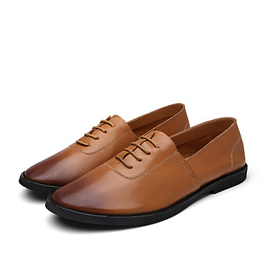 Men's Spring Comfort Shoes Nappa Leather Spring Men's / Summer Loafers & Slip-Ons Black / Yellow / Brown bd0333