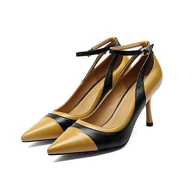 Femme Printemps Rouge Nappa Cuir Chaussures Blanc Aiguille Chaussures Marron Confort Talons 06849840 à Talon 1rqS1w