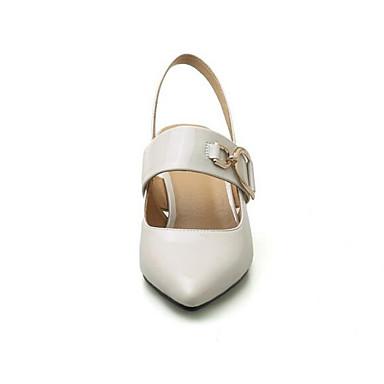 Chaussures Talons Bottier Talon Chaussures Escarpin Blanc Polyuréthane 06858853 Femme à Basique Eté Noir FxqTdF0wH