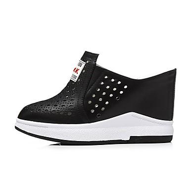 Chaussures Printemps amp; Cuir été Femme Noir Mules Nappa Creepers 06850125 Blanc Sabot Confort d0pcWc5nUH