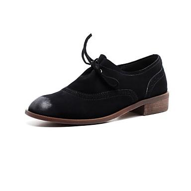 Chaussures 06856087 été Cuir Oxfords Talon Marron Noir Nappa Printemps Beige Confort Femme Bottier q7gnRdqw