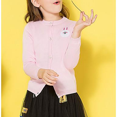 80fee5979654 Děti Dívčí Základní Jednobarevné Dlouhý rukáv Standardní Bavlna Svetříky a  kardigany Světlá růžová