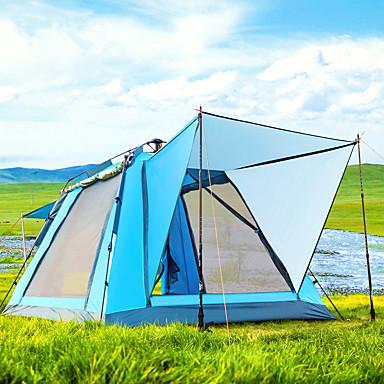 رخيصةأون مفارش و خيم و كانوبي-BSwolf 4 شخص خيمة شفافة منزل شفاف في الهواء الطلق ضد الهواء مكتشف الأمطار التنفس إمكانية طبقات مزدوجة أوتوماتيكي خيمة التخييم 1500-2000 mm إلى صيد السمك شاطئ Camping / Hiking / Caving تول قماش اكسفورد
